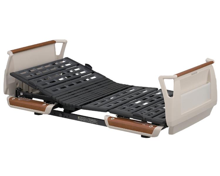 楽匠Sシリーズ 3モーター電動ベッド セーフティーラウンドボード(樹脂製・木目調) ミニタイプ 83cm幅 KQ-9301 パラマウントベッド 【介護用品】