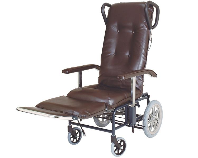 フルリクライニング車椅子 カームV No.238 睦三車いす 車イス くるまいす 介護用品 フルリク