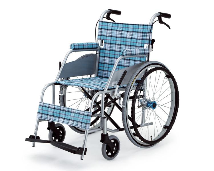 ▲車椅子 軽量 折り畳み 自走式超軽量車いす KARL(カール)KW-901B スカッシュ・ブルー 片山車椅子製作所車いす 車イス 介護用品 福祉用具