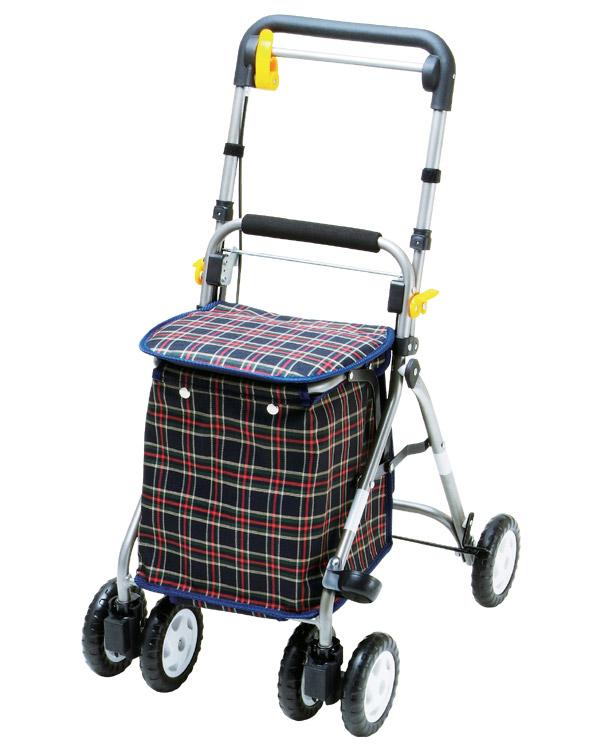 シルバーカー らくらくスリムW マキテック送料無料 介護用品 手押し車 老人 歩行補助車 高齢者