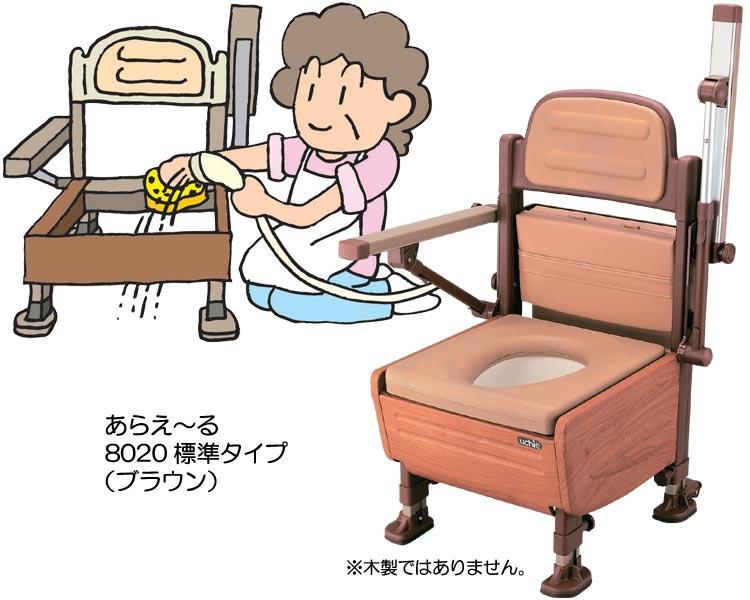 ポータブルトイレ あらえ~る 標準タイプ ウチヱ 【介護用品】【smtb-kd】