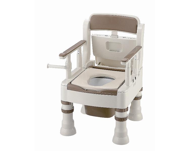 ●ポータブルトイレ きらくMH-D型 ミニでか 暖房便座脱臭器付 45651 リッチェル介護 ポータブルトイレ 高齢者 排泄関連 トイレ 在宅 介護用品 福祉用具