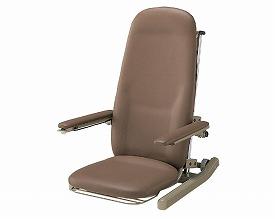 アシスタンド座イス レザー仕様 HE-CJES20RS1 ブラウン コクヨ座椅子 ローラー付き 立ち上がり補助 座いす 高齢者 便利いす 介護用品