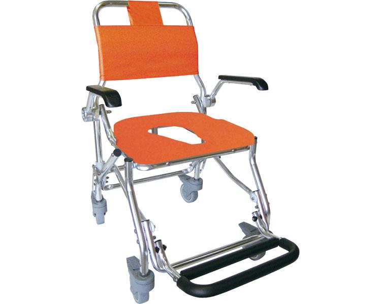 シャワーキャリー 肘可動式4輪キャスター LX-II(LX-2) No.5022 睦三入浴用 車椅子 車いす 車イス お風呂用 入浴介助 高齢者 介護用品