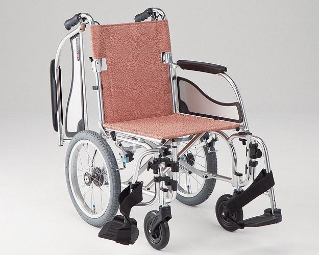 アルミ介助式車椅子 エアリアル MW-SL41B 介助ブレーキ付(MW-SL4Bの後継商品です) 松永製作所車椅子 軽量 折り畳み 介護用品