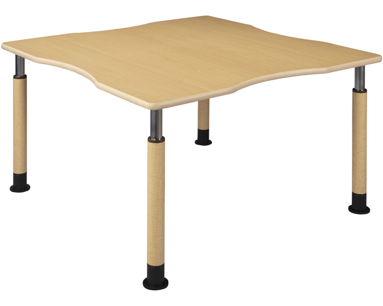 昇降テーブル 4本固定脚 幅120×奥行120cm/UFT-4T1212R4-4L1 ハイテクウッド 【smtb-kd】【介護用品】