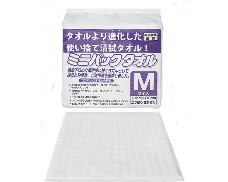 ミニパックタオル/M 25枚入×40袋 ミニパック 【介護用品】
