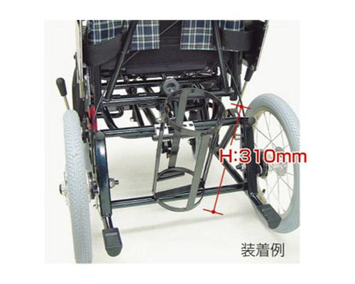 酸素ボンベ架台 内径105mm ティルティング&リクライニング車椅子KPFシリーズ用(車椅子と同時購入に限ります。) カワムラサイクル 【介護用品】