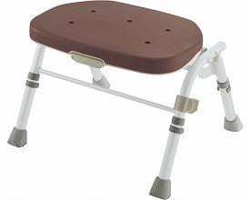 介護 椅子 折りたたみシャワーチェア R型 背なしブラウン 47972 リッチェル 【smtb-kd】【介護用品】【介護 椅子】
