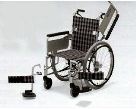 ● アルミ自走式車椅子NC-1CBW (背折れ・肘跳ね上げ・スイングアウト) 日進医療器 【smtb-kd】【介護用品】【車いす 車イス】【歩行補助】