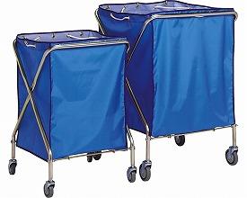 ダストカーSD 大 DS-225-041-3 青 テラモト介護用品 施設用品 カート 回収 運搬 医療 病院 福祉施設 ホテル リネン