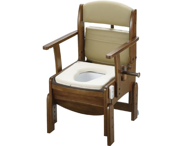 木製トイレ きらくコンパクト/18600 やわらか脱臭便座 リッチェル 【介護用品】【smtb-kd】
