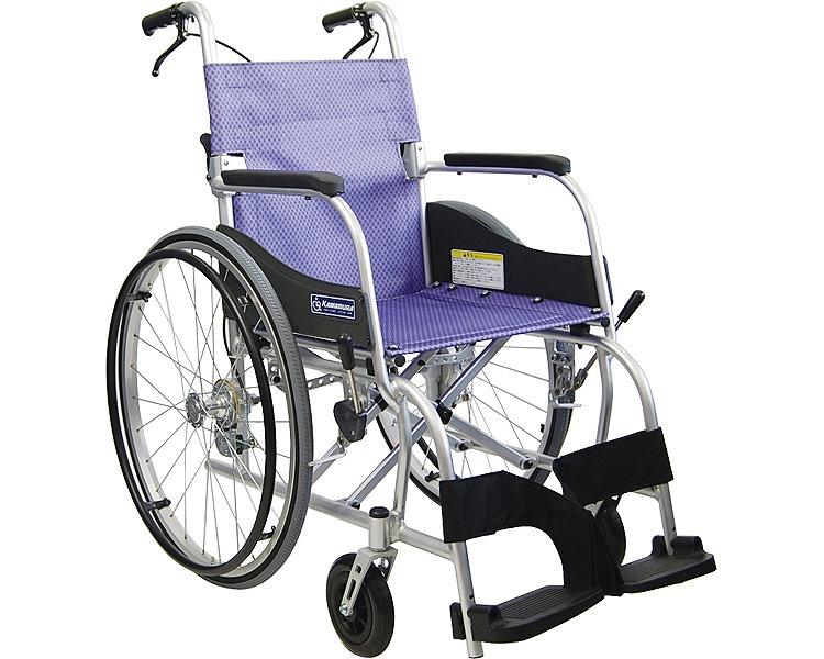 車椅子 軽量 折り畳み 自走用車いす ふわりす KF22-40SB カワムラサイクル介護用品 車いす 22インチ 車椅子 車イス 福祉用具 高齢者