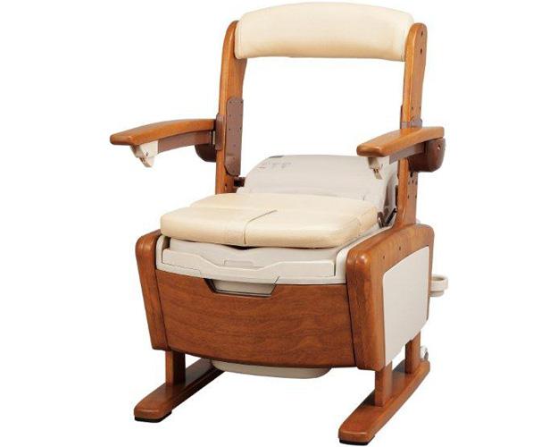 安寿 家具調トイレAR-1SA1 シャワピタ はねあげL 533-814 アロン化成介護用品 家具調 ポータブルトイレ トイレ関連 木製トイレ 福祉用具 高齢者 介護 お年寄り