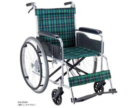 アルミ自走用車椅子 エコノミーシリーズ EW-20 背固定・介助ブレーキ付タイプ マキテック介護用品 自走式 車いす 車イス 歩行補助 アルミ製 標準タイプ