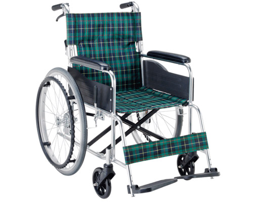 エコノミーシリーズ アルミ自走用車椅子 EW-50 背折れ・介助ブレーキ付タイプ マキテック 【smtb-kd】【介護用品】【自走式 車いす】