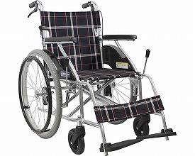 アルミフレーム自走用車椅子(ハイポリマータイヤ仕様)KV22-40SB カワムラサイクル 【smtb-kd】【車イス/車いす】【介護用品】【ノーパンクタイヤ】