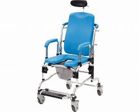 リクライニングシャワーキャリー 5153-20 ブルー アビリティーズ・ケアネット入浴用車いす 車椅子 車イス リクライニングシャワー浴 コモードチェア 介護用品