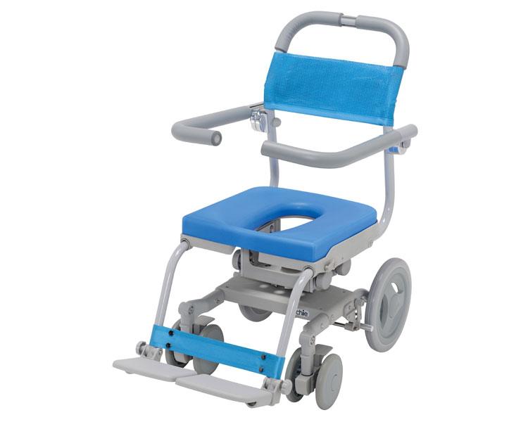 回転座面シャワーキャリー くるくるセーフティ O型シート KRU-172-SA ウチヱシャワーキャリー 入浴用車椅子 座位保持 介護用品 福祉用具