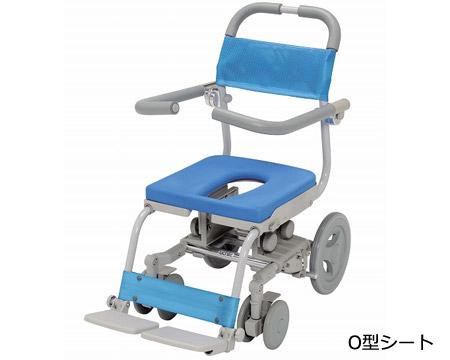 シャワーキャリー シャワーラクセーフティ O型シート SWR-100-SA ウチヱ 【smtb-kd】【介護用品】【シャワーキャリー】【入浴用車椅子】【座位保持】【コンパクト】【病院・施設向け】