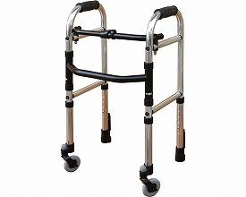 歩行器 ミニフレームウォーカー固定型キャスターモデル(Cモデル) WFM-4262SW3G シンエンス 【smtb-kd】【軽量】【介護】【歩行車】【介護用品】【歩行器/歩行補助】