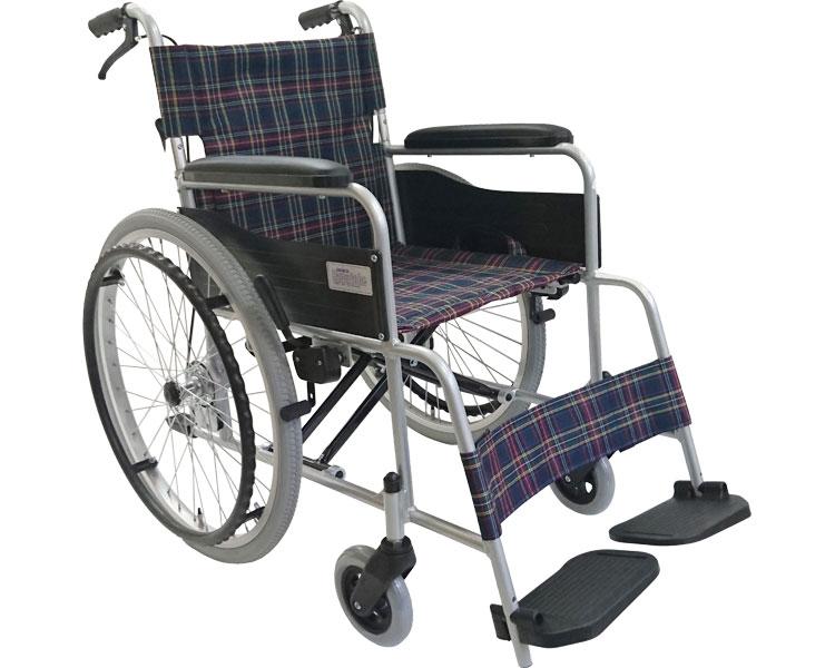 車椅子 軽量 折り畳み アルミ製自走式車いす MW-CM22-CN 美和商事車イス 折りたたみ 送料無料