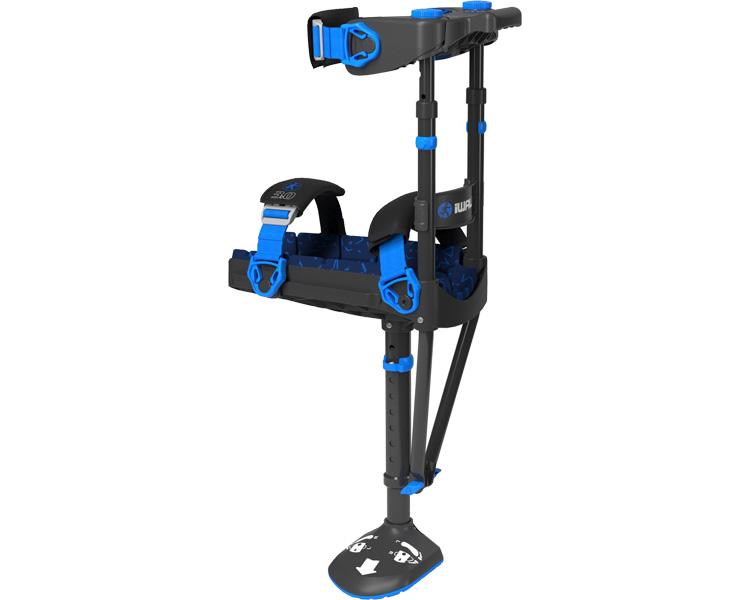 ひざを支える杖 アイウォーク・フリー(ニークラッチ2.0 ) 25-1 ブラック プロト・ワン歩行補助 杖 クラッチ 膝用 介護用品