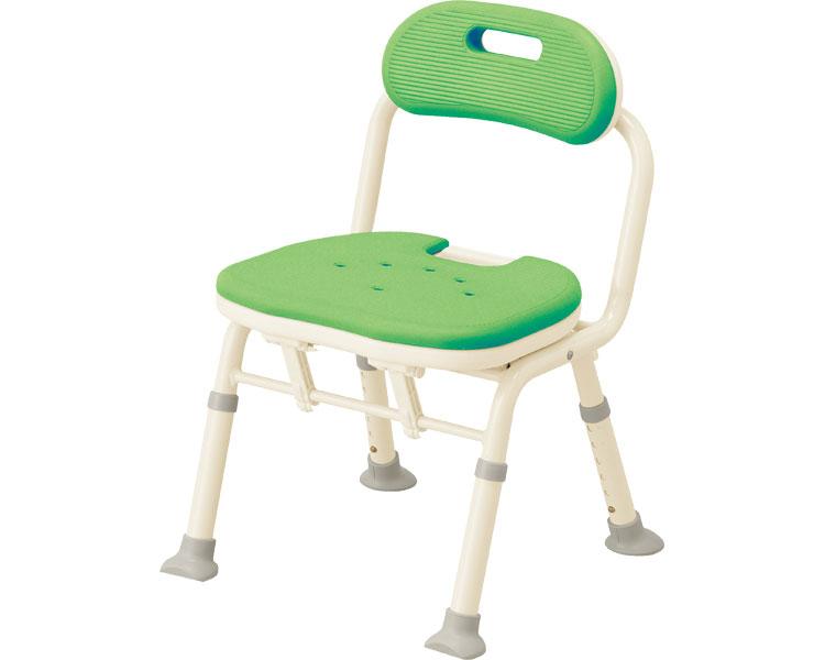 介護 椅子 コンパクト折りたたみシャワーベンチ IC 背付タイプ/536-366 グリーン 安寿 【介護用品】【smtb-kd】