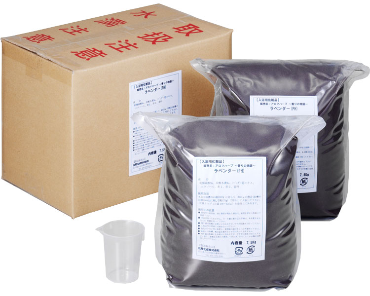 業務用入浴剤 ラベンダー/15kg(7.5kg×2) フェニックス 【介護用品】【smtb-kd】
