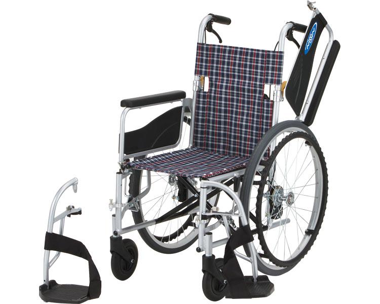 アルミ自走車いす NEO-1W 日進医療器 【smtb-kd】【介護用品】【自走式車椅子/自走用車椅子】【車イス】【歩行補助】