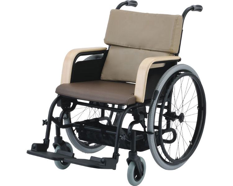 アルミ自走車いす アシスタイースII/202060AB ブラウン ピジョンタヒラ 【介護用品】
