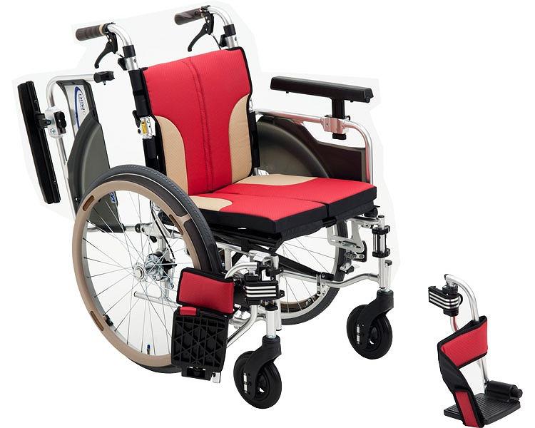 車椅子 折り畳み コンパクト車いす アルミ自走車いす SKT-1000 ミキ車イス コンパクト モジュール車いす ひじ掛け跳ね上げ はね上げ ソフトシート 介護用品