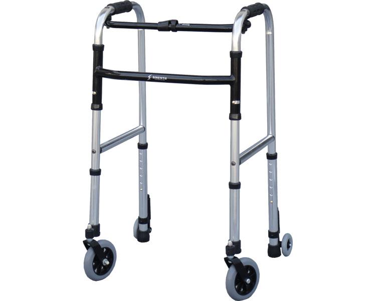 歩行器 介護 スリムフレームウォーカー・キャスターモデル WFS-4968SW5GW3 シンエンス高齢者 手押し車 老人 歩行補助 歩行器 介護用品