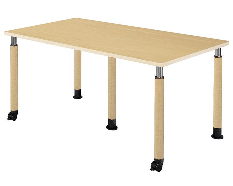 昇降テーブル/UFT-5T1890-5L2 3本固定脚+2本キャスター付脚 幅180×奥行90cm 介援隊