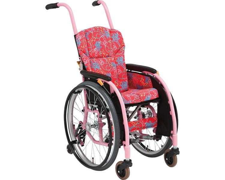子供用6輪車いす タイトターンJr. TT-Jr 松永製作所介護用品 子供用車いす 車椅子 車イス 背折りたたみ 自走型 自走式 六輪車椅子