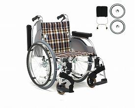 自動ブレーキ装置付車いす 自走式立ち止まり君付き車椅子 AR-501T 松永製作所車椅子 車イス 自走用 転倒予防 介護用品 高齢者 歩行補助 福祉用具