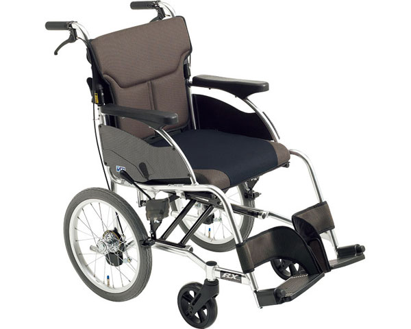 車椅子 折り畳み アルミ介助車いす RX-1 ミキ車イス 介助用 介助型 折りたたみ スタイリッシュ シンプル 介護用品