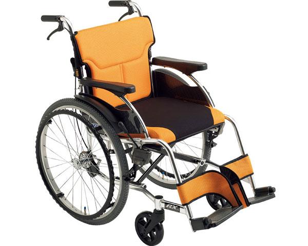 車椅子 折り畳み アルミ自走車いす RX-1 ミキ車イス 自走用 自走型 折りたたみ スタイリッシュ シンプル 介護用品