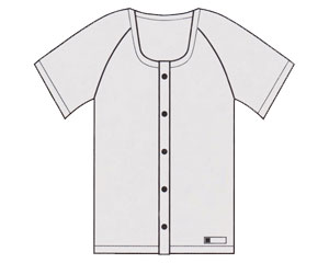 前開き半袖 ホック式 10枚組 神戸生絲KOBES 介護衣料 衣類 介護用品