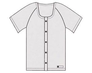 前開き半袖 ホック式 10枚組 E13 ホワイト 4L 神戸生絲KOBES 介護衣料 衣類 介護用品