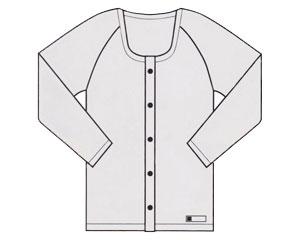 前開き長袖 ホック式 10枚組 E19 ホワイト 3L 神戸生絲KOBES 介護衣料 衣類 介護用品