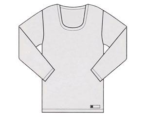 U首長袖 10枚組 E15 ホワイト 4L 神戸生絲KOBES 介護衣料 衣類 介護用品