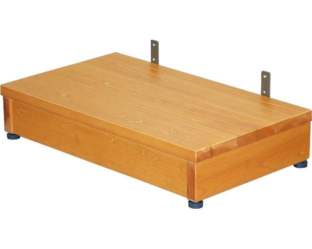 木製ステップ台 高さ13~15cm TST-04B ブラウン 矢崎化工 介護用品