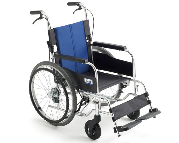 アルミ自走車いす BAL-1S 座幅40cm ブルー(A-2)ナイロン ミキ車椅子 自走式 自走用 車イス BALシリーズ バル