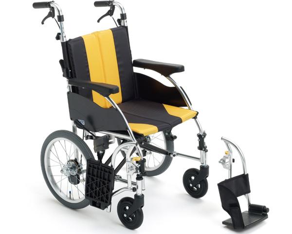 車椅子 折り畳み モジュール車いす アルミ介助車いす UR-4 ミキ車イス モジュール車いす ソフトシート 介護用品 在宅介護 施設