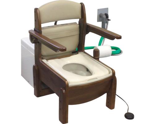 水洗式ポータブルトイレ 流せるポータくん2号/SPF14-2-YB やわらか便座タイプ アム 【介護用品】