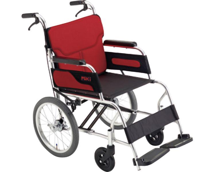 車椅子 アルミ介助式車いす カル~ン MC-43RK ミキアルミ製 介助用 介助式 車イス コンパクト 軽量 介護用品 福祉用具