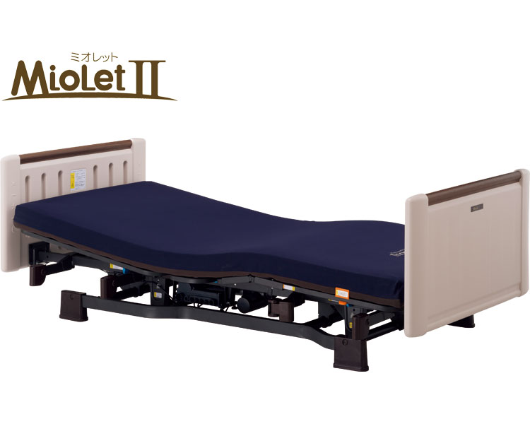 介護 ベッド ミオレット(ショート)昇降1モーター ホワイティ P106-42AB 90cm幅 プラッツ 介護用品