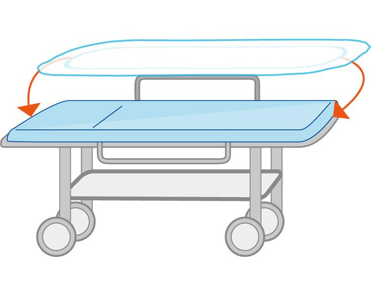フェルラック ストレッチャーカバー 20枚入 076971 吸水防水タイプ 竹虎ヒューマンケアディスポタイプ 使い捨て 衛生 ストレッチャー用 業務用 病院 施設 介護タクシー 介護用品