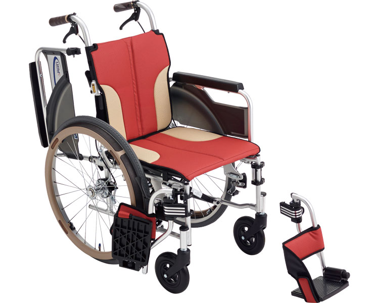車椅子 アルミ自走車いす スキット SKT-400 ミキアルミ製 自走用 自走式 車イス 折りたたみ コンパクト 介護用品 福祉用具